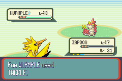 Pokemon Pyschic - defeated by a wurmple! - User Screenshot